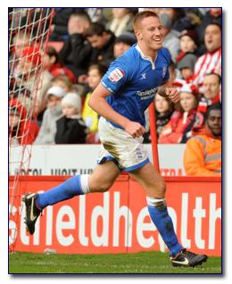 Adam Rooney Scores for Birmingham City FC