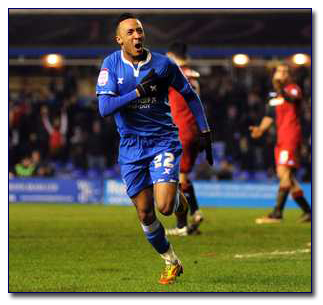 BCFC's Nathan Redmond Celebrates - Courtesy of Birmingham Mail