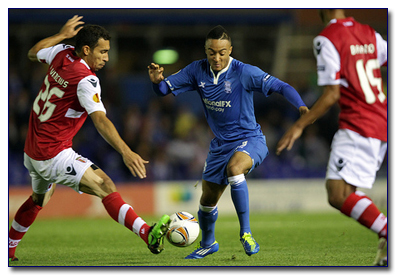 BCFC's Nathan Redmond in Action Against Braga