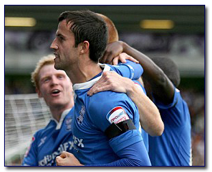 keith fahey celebrates his goal against coventry
