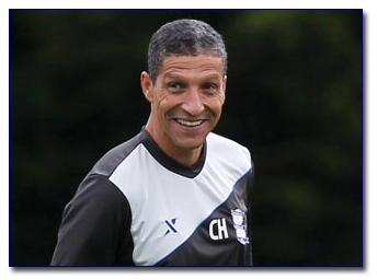 Chris Hughton manager of Birmingham City