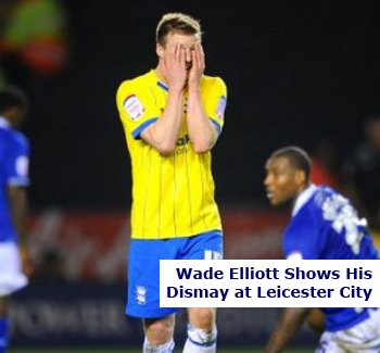 Wade Elliott Shows Dismay in Leicester Defeat