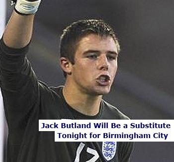 Birmingham City Goalkeeper Jack Butland