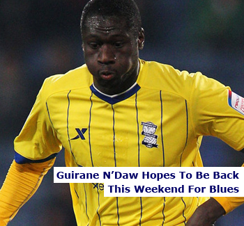 N'Daw May Be Back This Weekend For Birmingham City