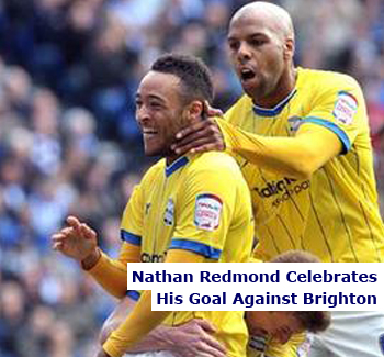 Nathan Redmond Celebrates For Birmingham City