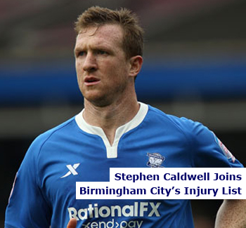 Stephen Caldwell Missing For Birmingham City