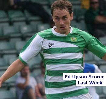 Scorer Last Week Yeovil Town's Ed Upson