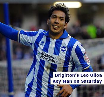 Leo Ulloa Key Man for Brighton & Hove Albion