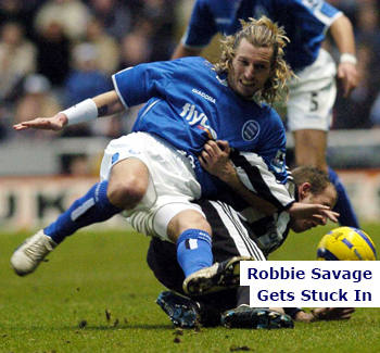 Robbie Savage Gets Stuck In