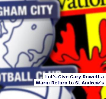 Gary Rowett Returns to St Andrew's