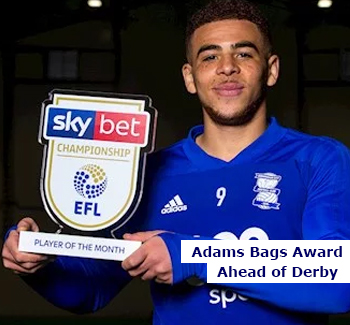 Che Adams Wins Award Ahead of Derby Game